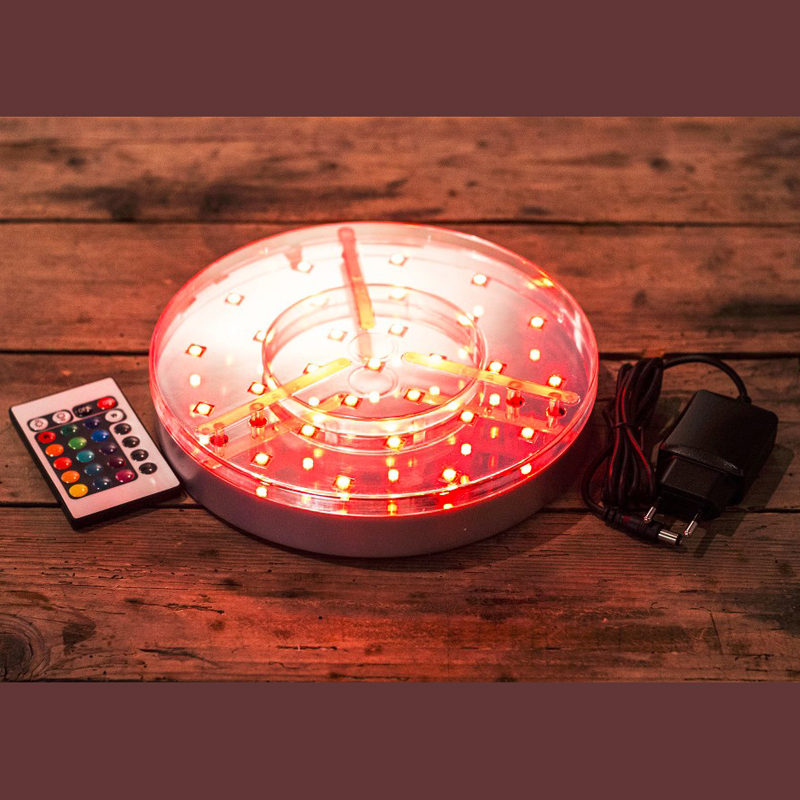 Free shipping 8inch LED Wedding Centerpiece Light with Remote Control for light up glass hookah shisha lamps 16 colors