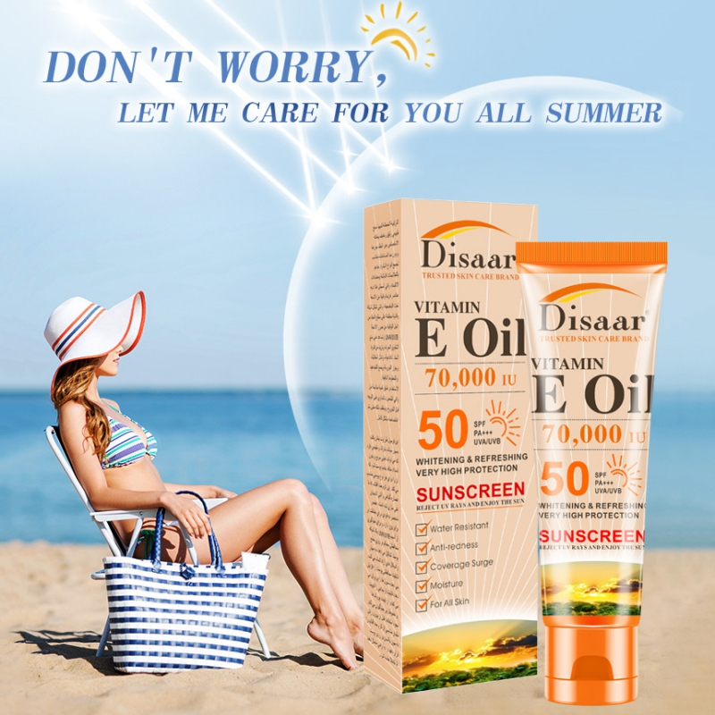 50ml Vitamin E Moisturizing Sunscreen Moisturizing Breathable Anti-uv SPF50+ PA+++ Sunscreen For Body Face(China)