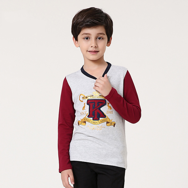 T100 Boys T-shirts Long Sleeve Cotton T-shirts Boys Tops Cartoon T-shirts For Boys Brand Children Baby Clothes Plus Size T-shirt free shipping cheap high quality 1pc lot long sleeve baby girl boys children child 100% cotton t shirt candy color base shirt