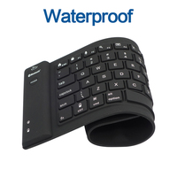 3 0 Bluetooth Keyboard Teclado 108key Wireless Flexible Soft Silicone Black Roll Up For PC Tablet