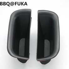 BBQ@FUKA 2Pcs/set Fit For 2004-2009 Toyota Prado Land Cruiser J120 ABS Front Door Armrest Storage Box Bin Container Car-Styling