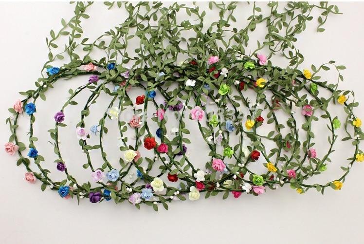 12tk / partii pruut lill juuksed garland festival pulmad õie Garland - Pühad ja peod - Foto 2