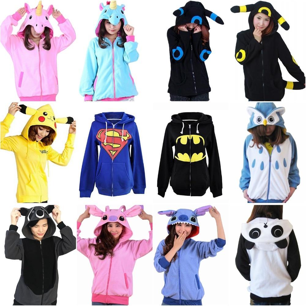 Hot Sale Anime Animal Pikachu Zip Hoody Jacket Hoodie With Ears Polar Fleece!!