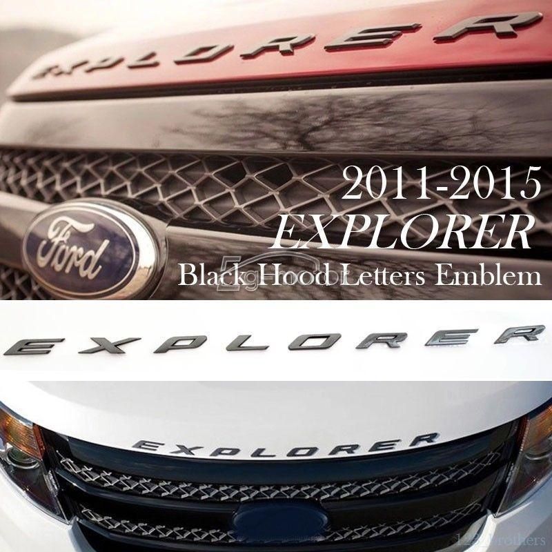 8pcs/set Sport Black 3D Hood Emblem Letters 2011~2015 for Ford Explorer nature explorer box set