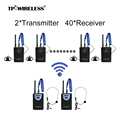 TP-Wireless Tour Guide System for Tour Guiding Teaching Church Translation 2 Transmitter 40 Receivers + Microphone + earphone