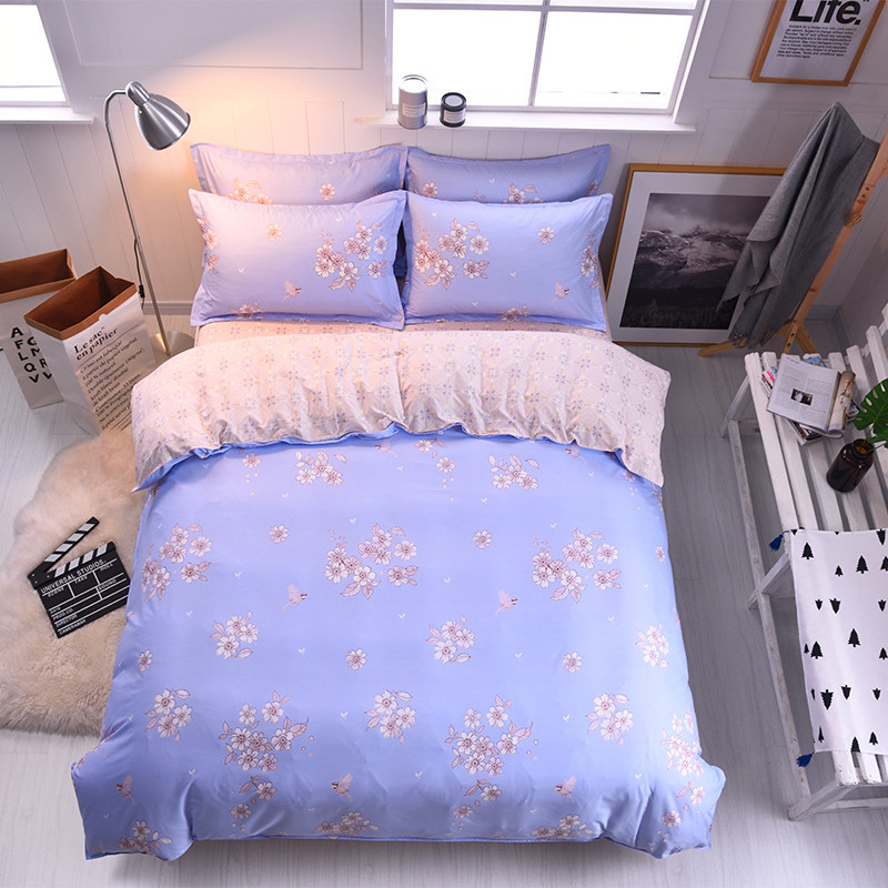 Pattern 4Pcs Home Textiles Multi-Size Optional Comfortable Soft Breathable Bed Sheets Quilt Cover