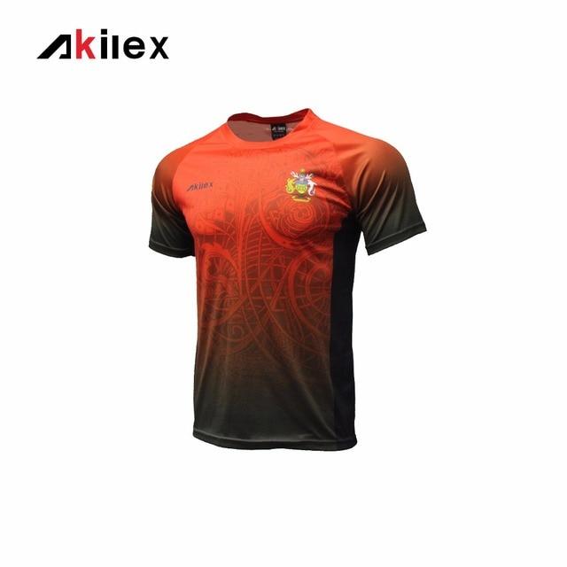 70b39d5aea579 Akilex Hombres del Diseño de La Raya de impresión de Transferencia de  Sublimación Deportes Fútbol Camiseta