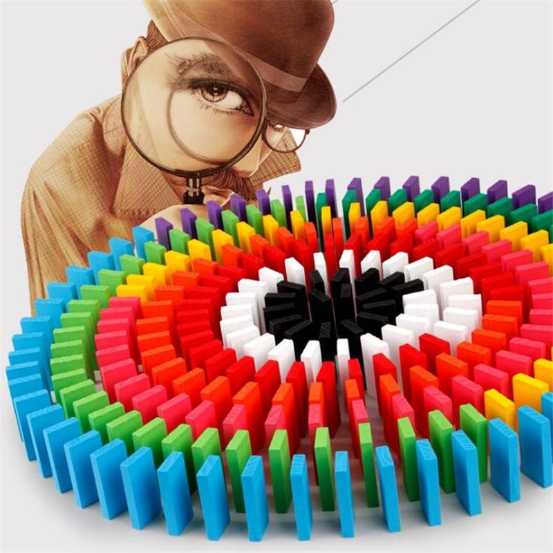 120 Stks/set Domino Speelgoed Kinderen Houten Speelgoed Kleur Sorteren Regenboog Domino Blokken Kits Early Learning Domino Games Educatief Speelgoed