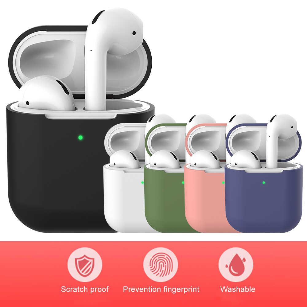 حقيبة سماعة الاذن ل أبل AirPods 2 السائل غطاء سيليكون سماعة لاسلكية تعمل بالبلوتوث الهواء القرون الحقيبة AirPod حالات المضادة للبصمة