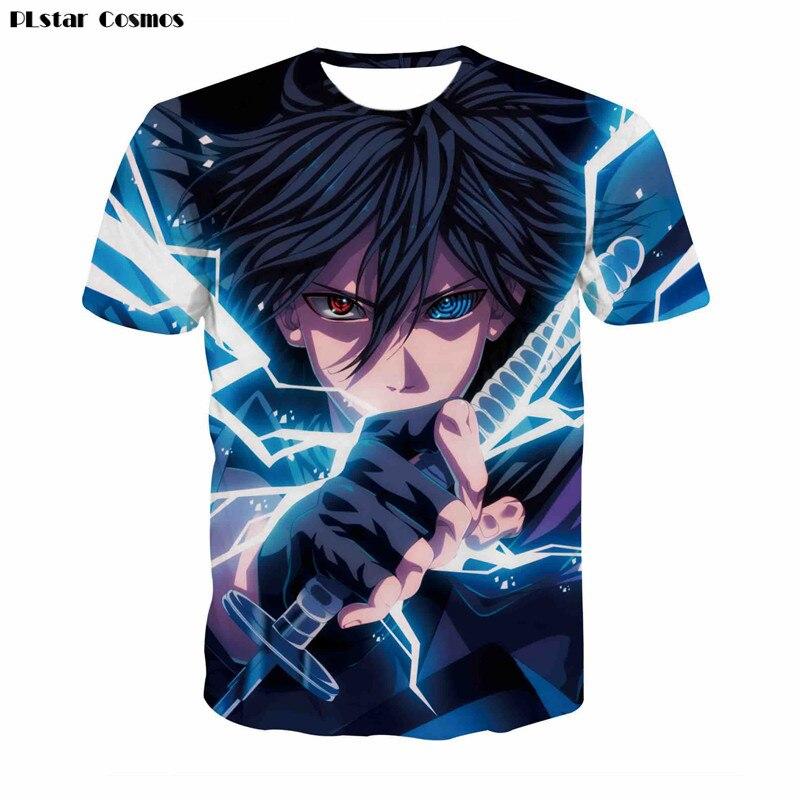 PLstar Harajuku Naruto Sasuke Ninja T-shirt Hommes 3D de Bande Dessinée Anime T-shirt D'été Camisetas Hombre T-shirt Chemisette De Los Hombres