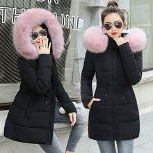 Зимняя женская куртка новая Длинная Верхняя одежда для женщин Зимний пуховик женское теплое зимнее пальто женские парки из искусственного меха лисы