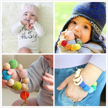 1PC Teething Natural Round Wood Bracelet Baby Newborn
