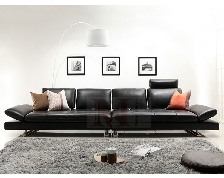 real leather sofa sectional living room sofa corner home furniture - Furniture - Photo 2