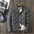 2016 зимнее пальто мужская мода теплый хлопка-ватник мужская хлопок мужчины свободного покроя европейский стиль зимнее пальто ветровка