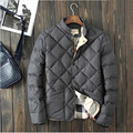 2016 hombres abrigo de invierno de moda cálida acolchada chaqueta para hombre de algodón para hombres casuales de estilo europeo chaqueta rompevientos abrigo de invierno