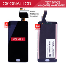 100% Tested Original 5 INCH Black 1280×720 Display For Meizu M3 Mini LCD with Touch Screen Digitizer Replacement Parts