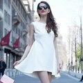 Veri Gude Summer Dress Mermaid Dress Short Front Long Back Sleeveless Solid Color