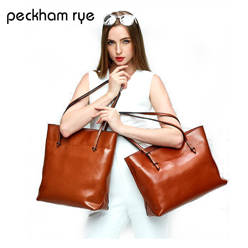 PECKHAMRYE genuine leather women bag fashion Women Handbag Large Shoulder Bags Elegant Ladies Tote Sacthel Purse Top-handle bags резистор kiwame 2w 30 ohm