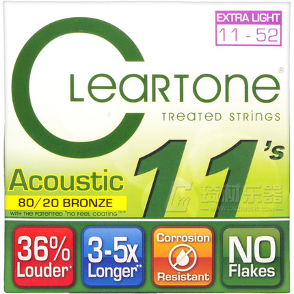 Cleartone 7611 EMP 80/20 Bronze Acoustic Guitar String Set, Extra Light, 011-052 electrocompaniet emp 3