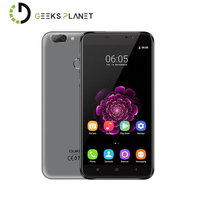 Original Oukitel U20 Plus Dual Camera Moile Phone MTK6737T 1.5GHz Quad Core 5.5 Inch FHD Screen 2G+16G Android 6.0 4G Smartphone