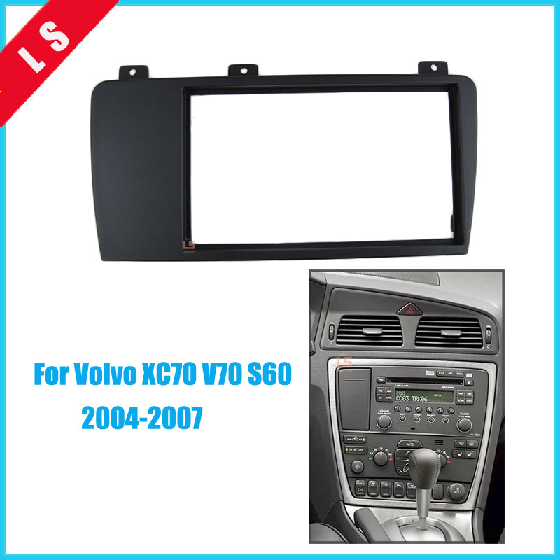 Double Din Car Radio Fascia For 2004 2005 2006 2007 Volvo