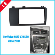 Double Din Car Radio Fascia for 2004 2005 2006 2007 Volvo XC70 V70 S60 2DIN,Trim Surround CD Dashboard Panel Audio Frame,2 din seicane double din car radio fascia frame for 2004 2005 2006 2007 volvo xc70 v70 s60 installation trim dashboard panel kit