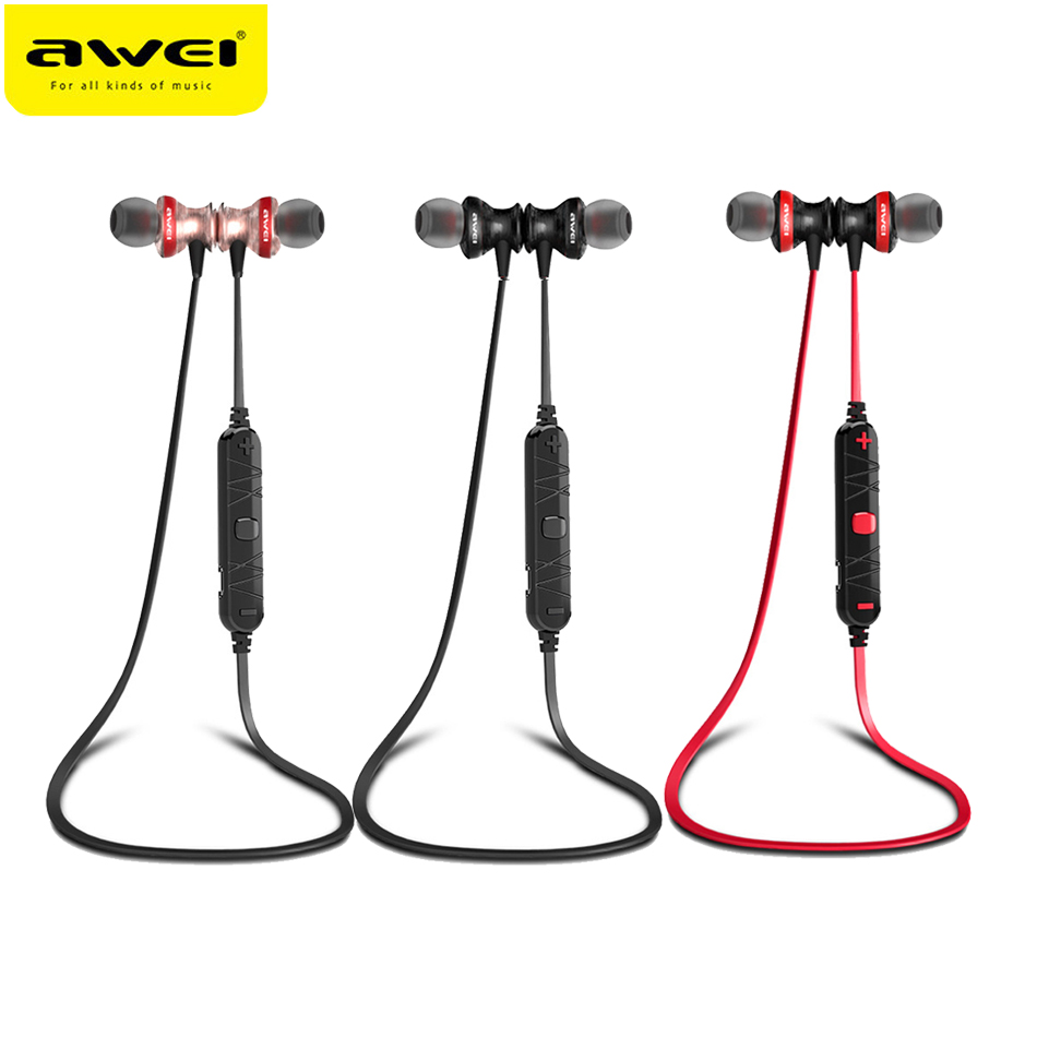 Awei A980BL Wireless Bluetooth Earphone Neckband Stereo Sport Magnetic Headsets With Mic For Phone fone de ouvido Auriculares