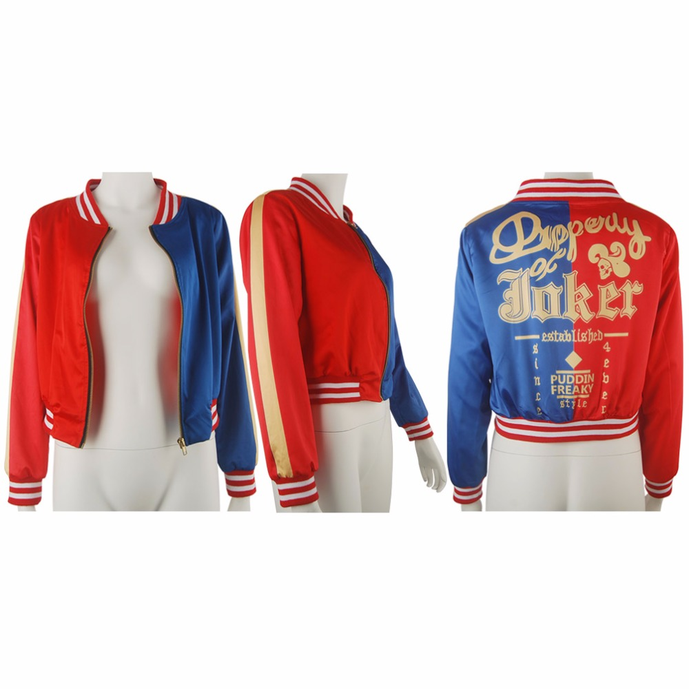 Kids Girls Suicide Squad Harley Quinn Coat Jacket Comics Batman Halloween Cosplay Costume Supervillian Outwear