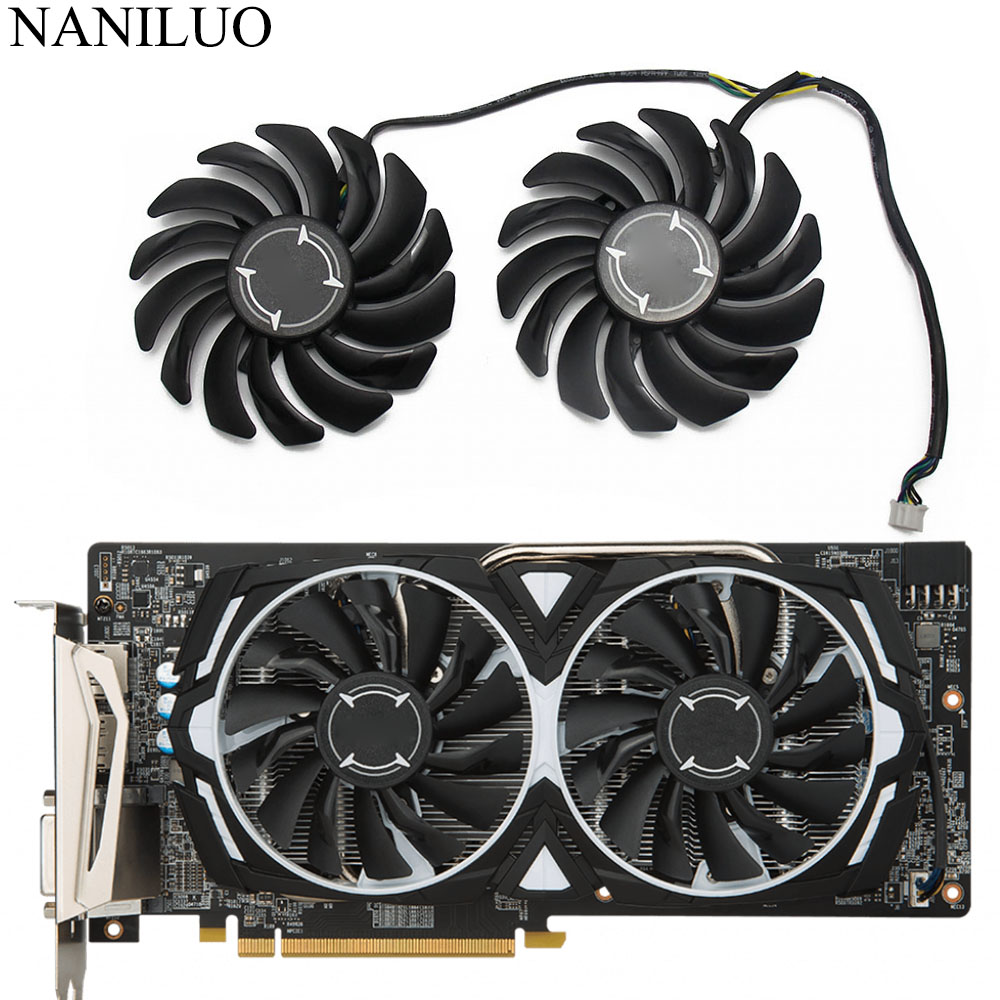 2PCS/lot PLD09210B12HH 4Pin RX580 P106-100 Mining Fan For MSI <font><b>RX</b></font> <font><b>470</b></font> 480 570 580 ARMOR <font><b>Graphics</b></font> Video <font><b>Card</b></font> Cooling Fans image