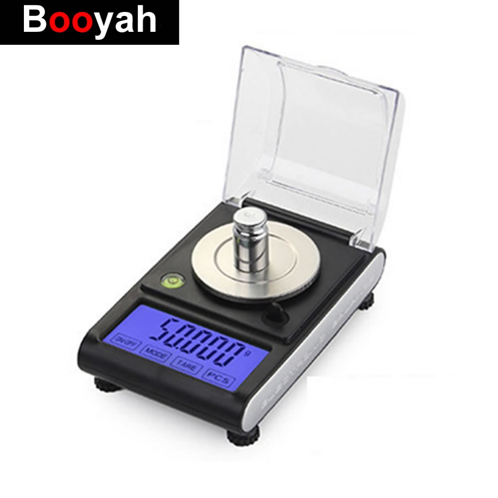 50g 0.001g High Precision Digital Electronic Scale Touch LCD Laboratory Weight Balance Jewelry Diamond Drug Scales Mini Scale 100g 0 1g lab balance pallet balance plate rack scales mechanical scales students scales for pharmaceuticals with weight tweezer
