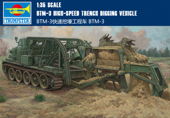 Trumpet 09502 1:35 Soviet Union BTM-3 Fast Trench Excavator Assembly Model Building Kits Toy