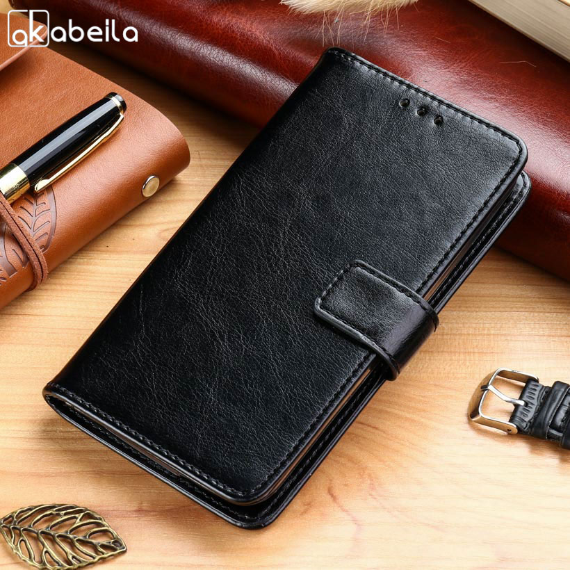AKABEILA Cases For Homtom S9 Plus 5.99 inch case For Homtom S 9 Plus 5.99 Leather Wallet Phone Cover Housing Business Holster