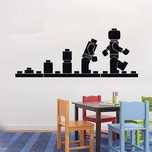 Lego LEGO ЭВОЛЮЦИЯ Наклейка Стикера СТЕНЫ Стены Искусства Винил Трафарет Детская Комната Мультфильм Декоративные Наклейки Бренд Цитата DIY Home Decor