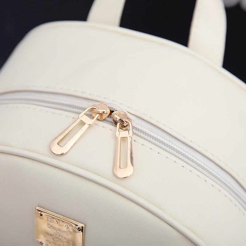 Backpack Female 3 Piece Combination Composite Bag Bear Hanging Inlaid Imitation Diamond Tassel Fashion Casual Shoulder Bag 64