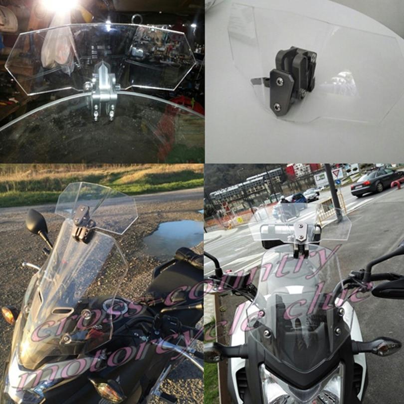 ФОТО Universal Motorcycle Windshield Airflow Adjustable Windscreen Wind Deflector for fit  Kawasaki BMW  Ducati honda KTM