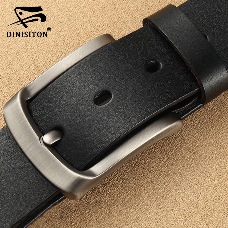 DINISITON Men's Genuine Leather Belt Luxury Brand Belts For Mens High Quality Cowhide Male Strap Hot Cummerbunds Ceinture Homme