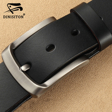 DINISITON mens genuine leather belt luxury brand belts for High Quality Cowhide Male Strap Hot Cummerbunds ceinture homme