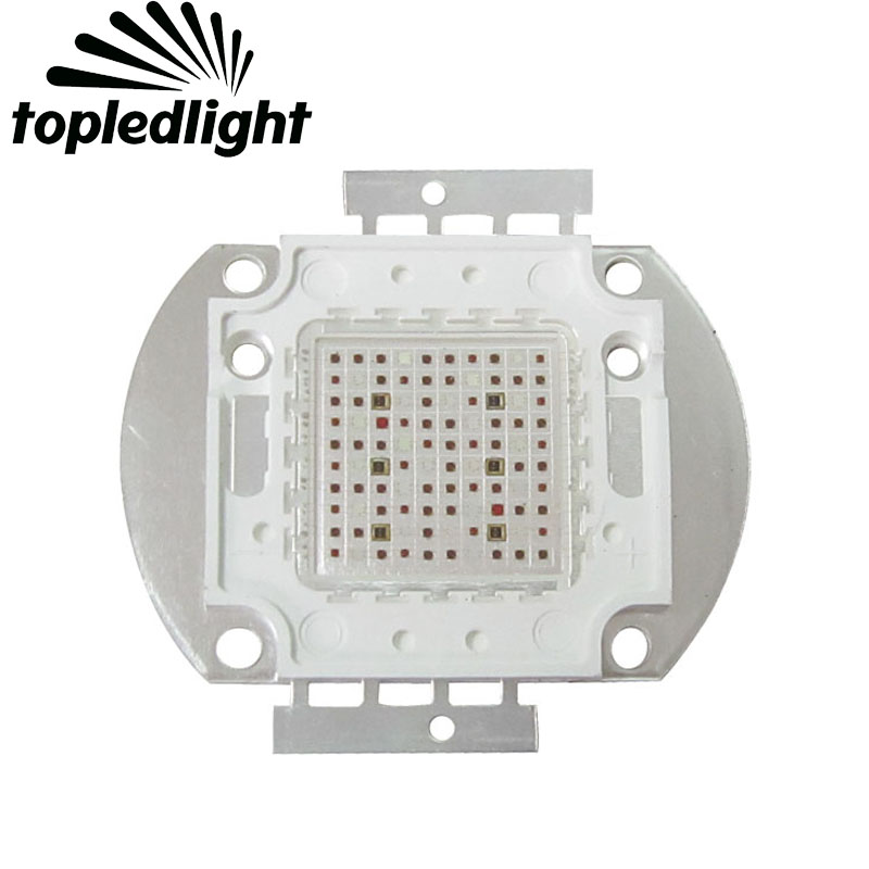 Topledlight Customize 100W Growth Chip Array Multiband 7 Band Full Spectrum Led Emitter Lamp For Plant Seeding/Growing/Flowering topledlight customize 50w blue 450nm 42mil