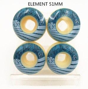 Image 5 - USA BRAND PRO 4PCS/SET PURE WHITE HIGH DENSITY PU Street Skateboard Wheels 52mm Skates Wheels Rodas for Kaykay Paten