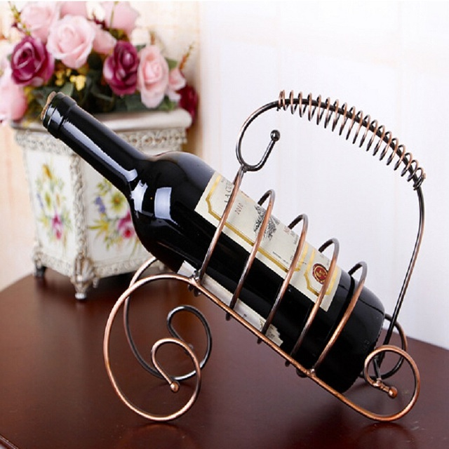 wrought iron wine rack creative wine bottle holder shelf vinho rejilla para copas kitchen accessories decoration