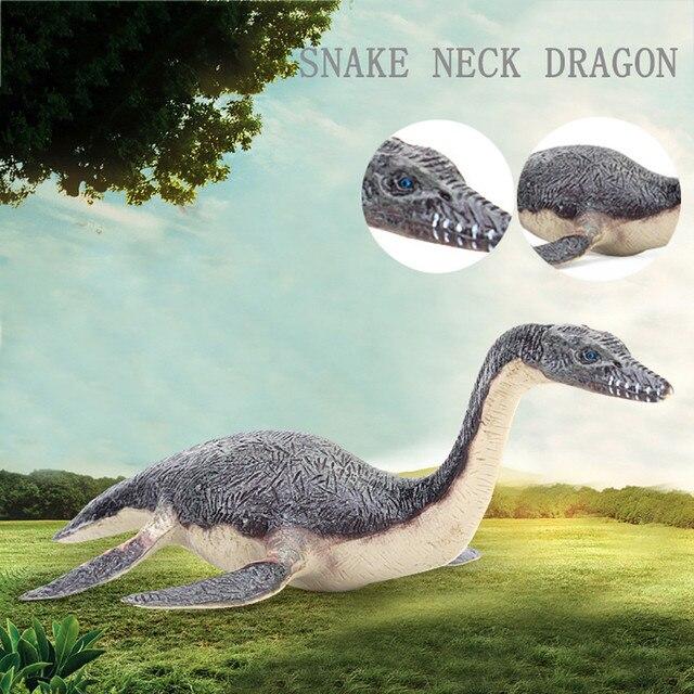 Alta Qualidade Simulado Cobra Pescoço Dragão Modelo Educacional Brinquedo Modelo de Dinossauro engraçado Crianças Brinquedos Presente Das Crianças Dos Miúdos Z0306