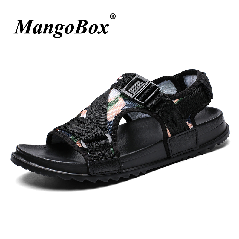 Flat Sandals for Men Large Size 38-46 Men Casual Shoes Camouflage Green Summer Shoes for Male Lightweight Anti-slip Sandals