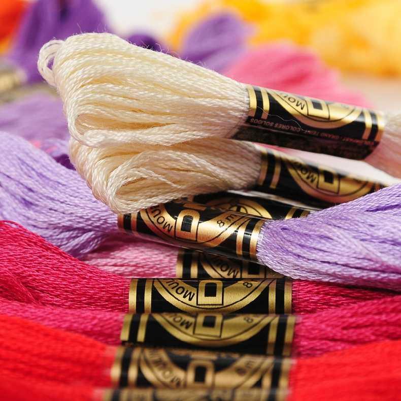 Хлопок всего различных шт Оригинальный Французский DMC Вышивка/вышивка крестиком шелковая нить-Выберите любые цвета и количество свободно