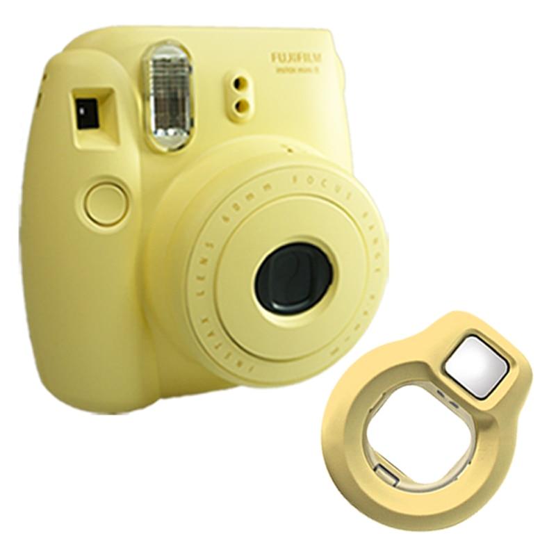Fuji Fujifilm Instax Mini 8 Instant Photo Film Camera – Yellow + Close-up Lens Selfies Mirror