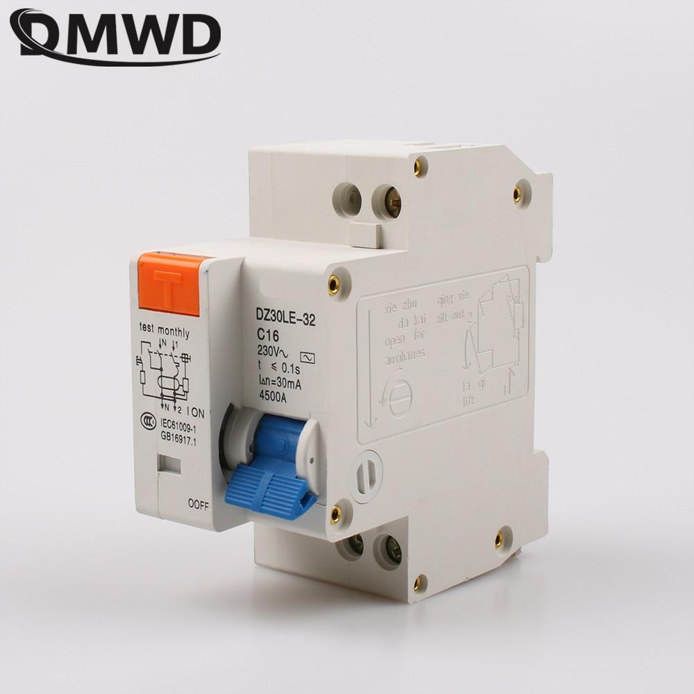 Dmwd dpnl 1 P + N 16A 220 В 230 В 50 Гц/60 Гц УЗО с более чем ток утечки и авдт защиты