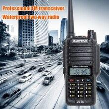 Baofeng UV 5S rádio em dois sentidos impermeável uv5s da banda dupla do walkie talkie 136 174mhz, rádio de 400 520mhz 10 km para a caça