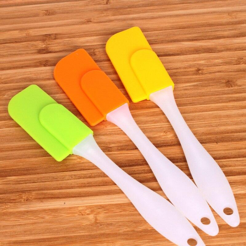 19cm pequena espátula de silicone mini creme manteiga mistura raspador massa cozinha acessórios ferramentas cozimento para bolos