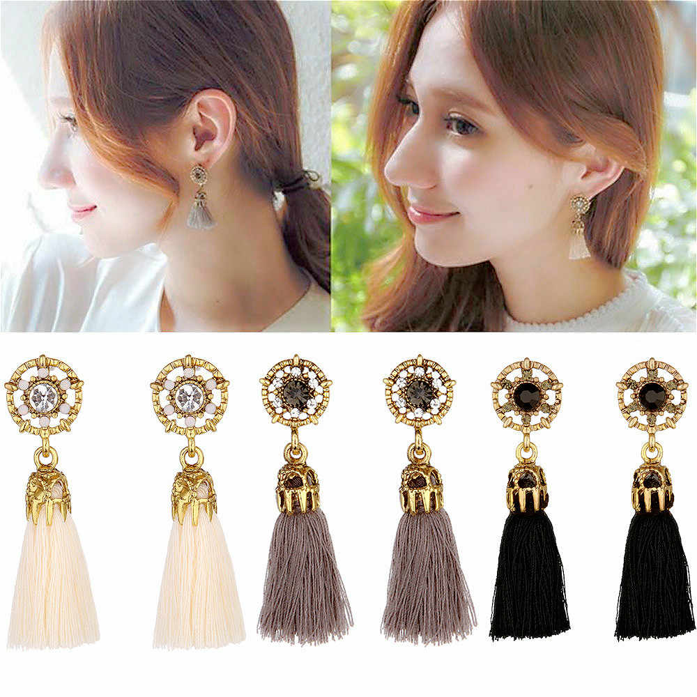 tassel Drop Dangle Earrings Vintage Women Earrings 4 Colors Statement Jewelry Female Accessories wholesale 2019