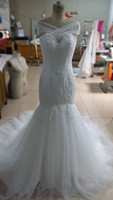 Zhiling New Model Romantic A Line Vestido De Noiva Bride Dress Wedding Dress With Appliques And