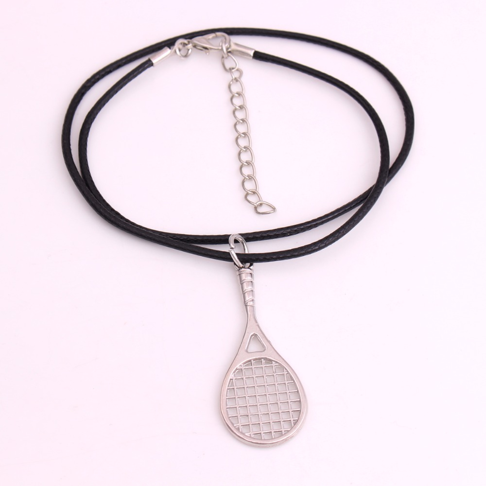 Drop shipping 1pcs tennis racket pendant with 18 leather chain drop shipping 1pcs tennis racket pendant with 18 leather chain tennis racquet racket sports series necklace in pendant necklaces from jewelry accessories aloadofball Choice Image